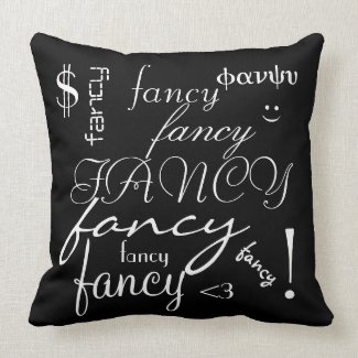'Fancy' Polyester Throw Pillow