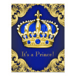 Fancy Prince Baby Shower Blue Card