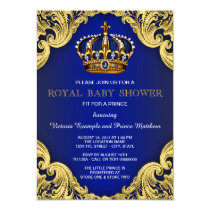Fancy Prince Baby Shower Invitations