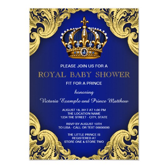 Fancy prince baby shower invitations zazzle fancy prince baby shower invitations filmwisefo