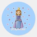 Fancy Princess Classic Round Sticker