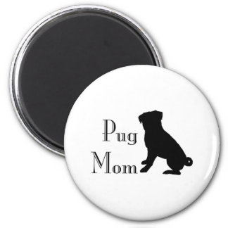 Fancy Pug Mom Magnet