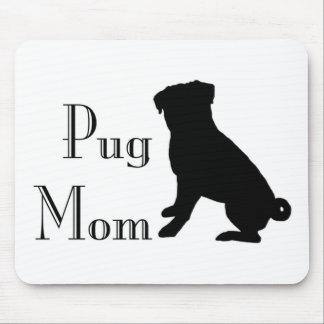 Fancy Pug Mom Mouse Pad