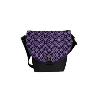 Fancy Purple Aztec Pattern Messenger Bag