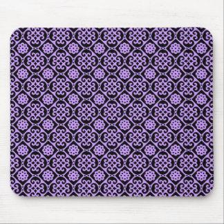 Fancy Purple Aztec Pattern Mouse Pad