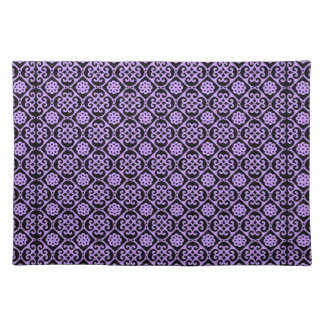 Fancy Purple Aztec Pattern Place Mats