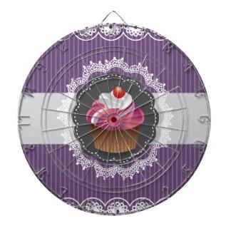 Fancy Purple Cupcake Dart Boards