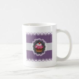 Fancy Purple Cupcake Classic White Coffee Mug