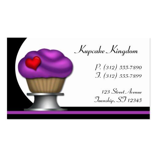 Fancy Purple Cupcake Pedestal Business Cards