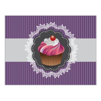 Fancy Purple Cupcake Postcard