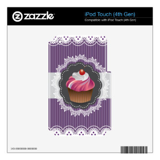 Fancy Purple Cupcake iPod Touch 4G Decal