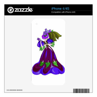 Fancy Purple Dancer Decal For The iPhone 4S