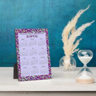Fancy Purple Mosaic 2016 yearly Calendar Plaque