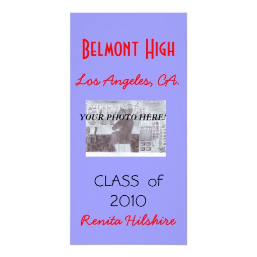 Fancy Purple Photo Grad Card! Photo Cards