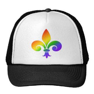 Fancy Rainbow Fleur de Lis Trucker Hat