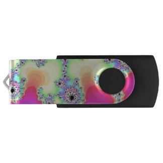 Fancy Rainbow Fractal Flash Drive Swivel USB 3.0 Flash Drive