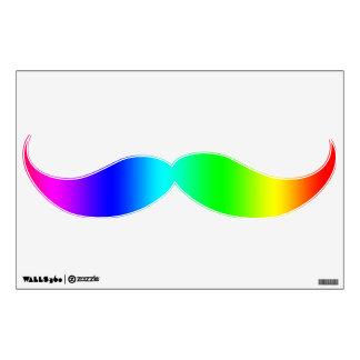 Fancy Rainbow mustache Wall Sticker