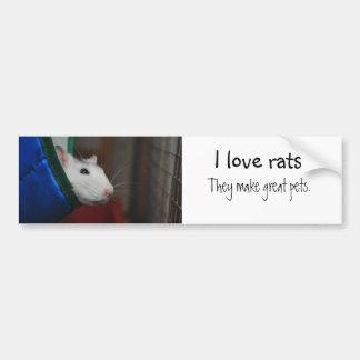 Fancy rat car bumper sticker