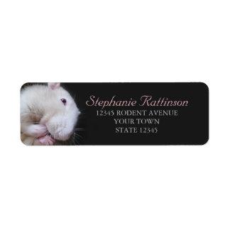 Fancy Rat Cleaning Photo Return Address Labels