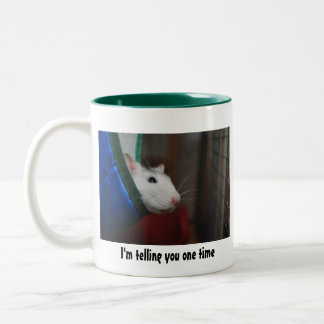 Fancy rat Two-Tone coffee mug