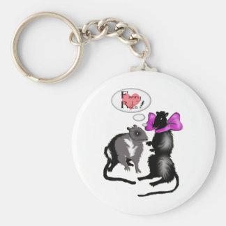 fancy rats! basic round button keychain