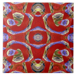 fancy red abstract ceramic tile