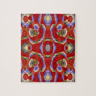 fancy red abstract jigsaw puzzle