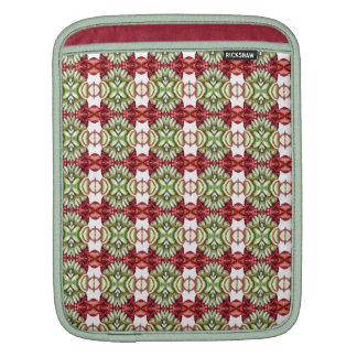 Fancy Red and Green Plaid iPad Sleeve