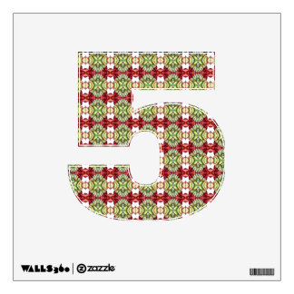 Fancy Red and Green Plaid Wall Decal
