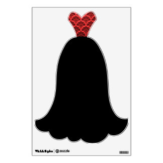 Fancy Red Black Dress Evening Gown Wall Decal