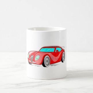 Fancy Red Cartoon Sports Car Coffee Mug