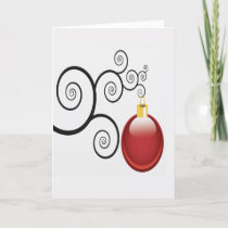 Fancy Red Christmas Ornament Holidays Christmas Holiday Card