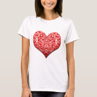 Fancy Red Heart T-Shirt