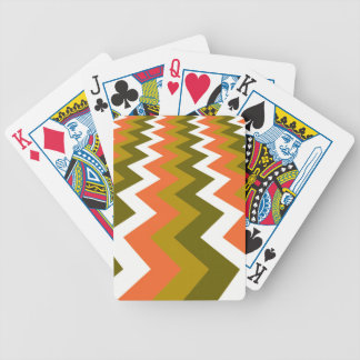 Fancy Retro Chevrons Bicycle Playing Cards