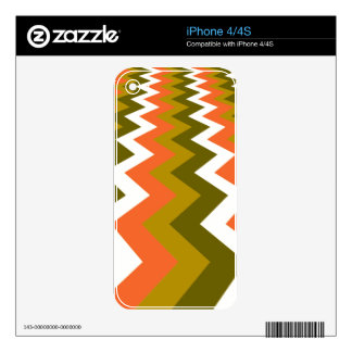 Fancy Retro Chevrons Skins For iPhone 4