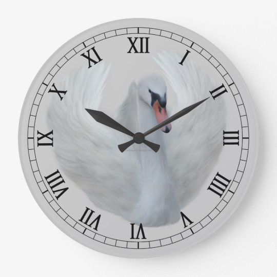 Fancy Roman Numeral Bird Wall Clock Zazzle