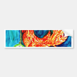 Fancy Rooster Art 2 Bumper Sticker