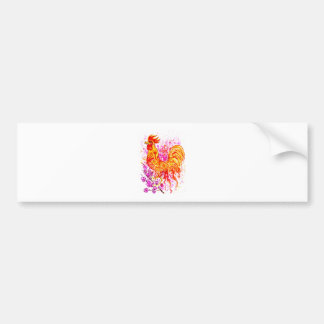 Fancy Rooster Art 3 Bumper Sticker