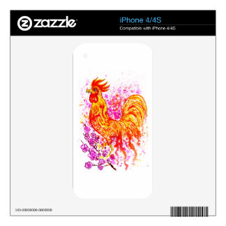 Fancy Rooster Art 3 Skin For The iPhone 4