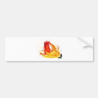 Fancy Rooster Art 4 Bumper Sticker
