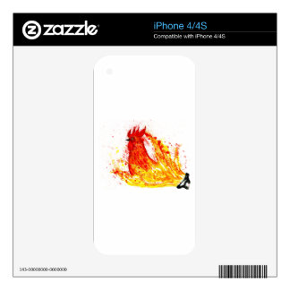 Fancy Rooster Art 4 Skins For iPhone 4S