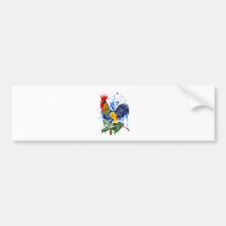 Fancy Rooster Art 5 Bumper Sticker