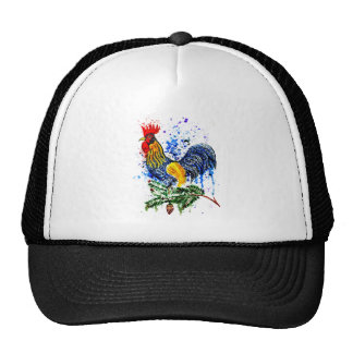 Fancy Rooster Art 5 Trucker Hat