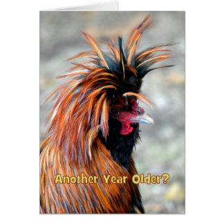 Fancy Rooster Happy Birthday Humor Greeting Card
