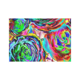 Fancy Roses Wrapping Canvas