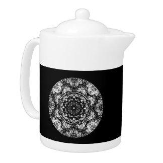 Fancy Round Design on Black.