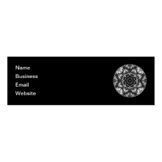 Fancy Round Design on Black. Business Card Templates
