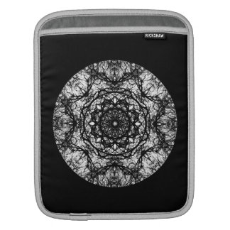 Fancy Round Design on Black. Sleeve For iPads