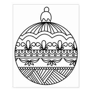 Fancy Round Ornament Rubber Stamp