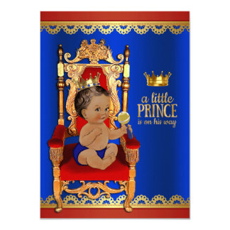 Fancy Royal Ethnic Prince Baby Shower Card
